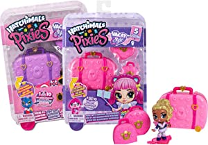 Hatchimals 6056546 Pixies, Vacay 2.5-Inch Surprise Collectible Doll and Accessories (Styles May Vary), Multicoloured