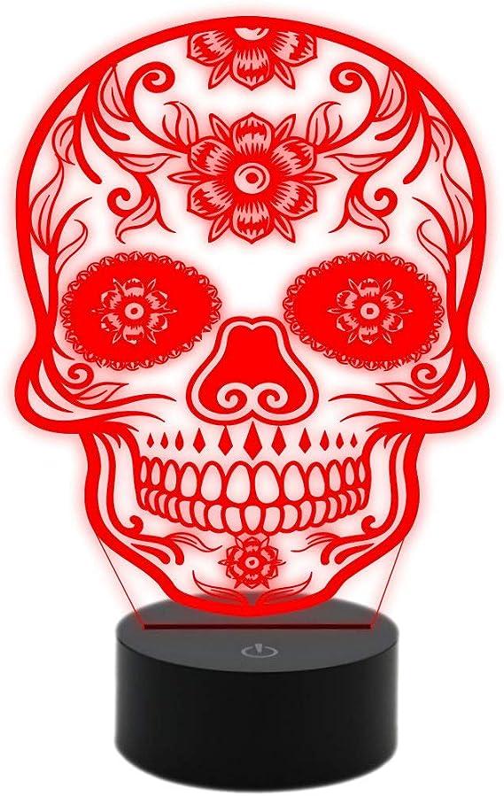 Generico lámpara LED de mesa calavera mexicano tatuaje tribal Idea ...