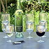 Stackable Premium Quality Plastic 8oz Wine Glass – Set of 8