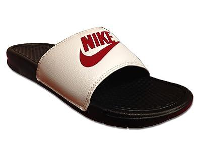 6eefb5a126 Nike Benassi JDI, Herren Badeschuhe, Mehrfarbig - Rot/Weiß/Schwarz - Größe