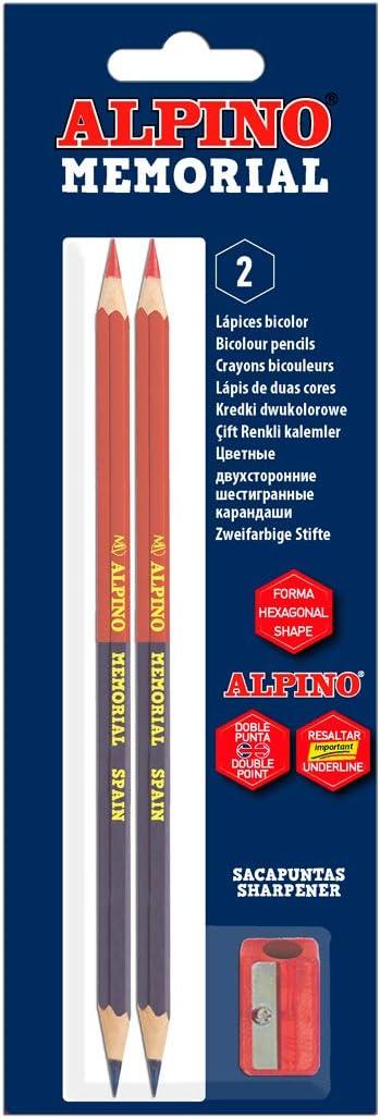 Alpino LE000018 - Blister 2 lápices y sacapuntas