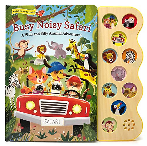 Busy Noisy Safari: Interactive Children's Sound Book (10 Button Early Bird Sound Book) (Early Bird Sound Books)