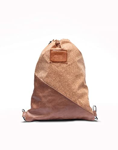 Mochila tipo bolsa elaborado a mano con tela de corcho y ...
