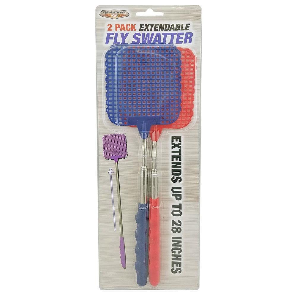 Blazing LEDz Extendable Fly Swatter (Pack of 2)