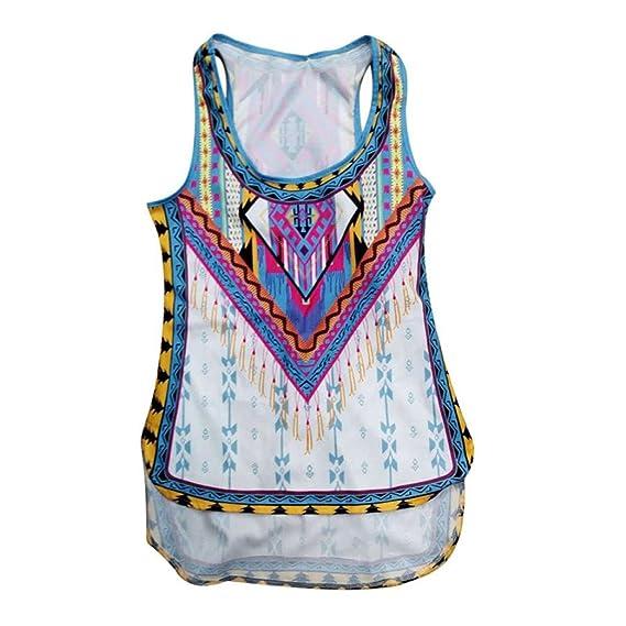 Btruely Herren🌿 Camisa sin Mangas Mujeres Chaleco del Verano Mujeres Blusa Camisetas de Playa Casuales Chaleco de Impresión de Fiesta Moda Blusas Mujer: ...