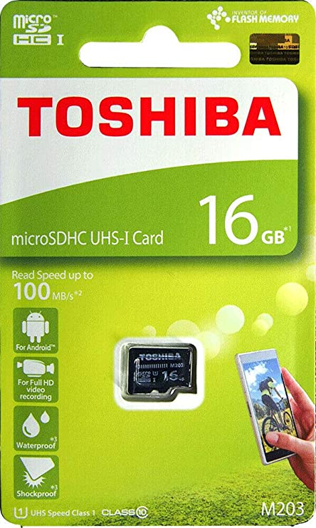 Amazon.com: M203 Toshiba 16 GB microSDHC UHS-I U1 tarjeta ...