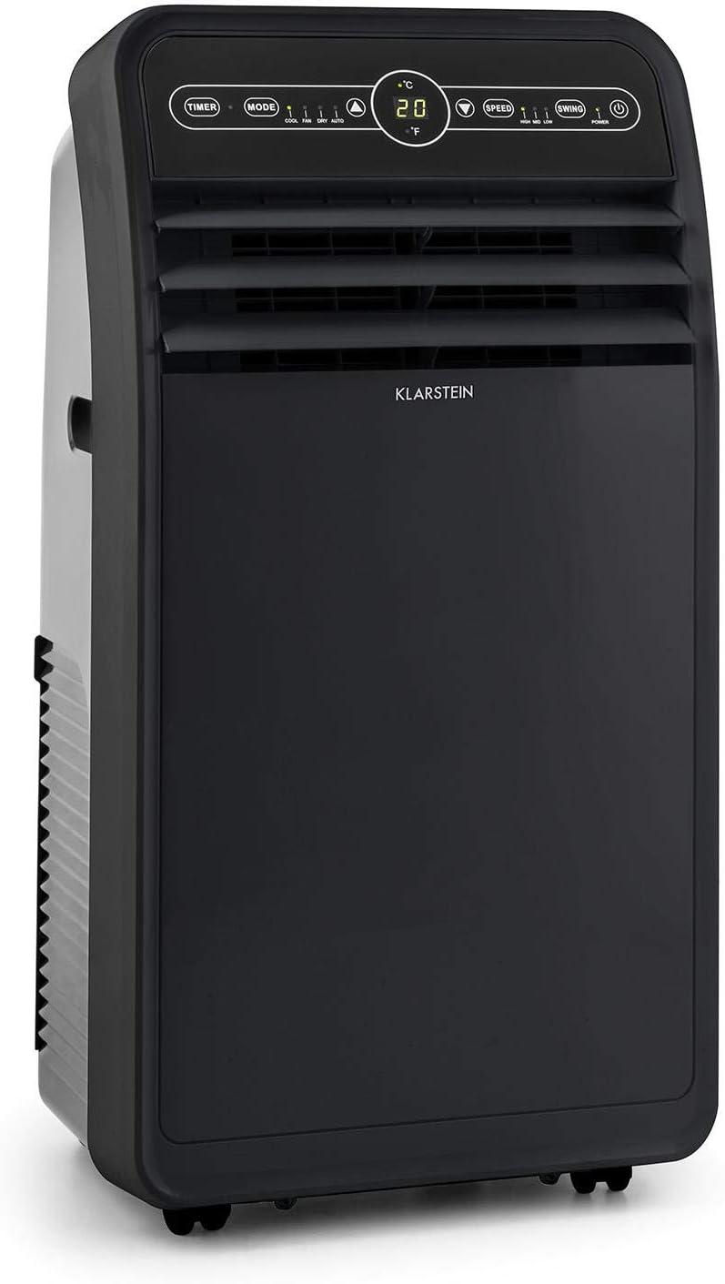 KLARSTEIN Metrobreeze New York 7k Aire Acondicionado portátil – 3 en 1: deshumidificador/Ventilador/Aire Acondicionado, 2,05 kW / 7000 BTU, 785 W, 65 dB(A), Negro