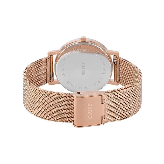 CLUSE Reloj Analógico para Mujer de Cuarzo con Correa en Acero Inoxidable CL40007: Amazon.es: Relojes