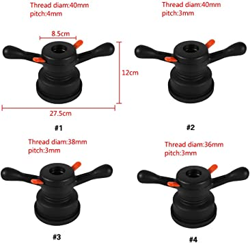 38mm 3mm Tyre Balancing Machines,36//38//40mm 3//4mm Quick Release Hub Wing Nut Wheel Balancer Tire Change Tool