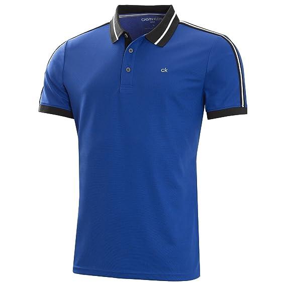 9d3d4663 Calvin Klein Golf Mens Breathable Moisture Wicking Extension Polo Shirt:  Amazon.co.uk: Clothing
