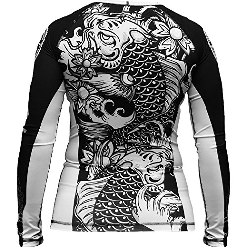 Ladies Rashguard Hardcore Training Koi T-Shirt de compression MMA BJJ Fitness
