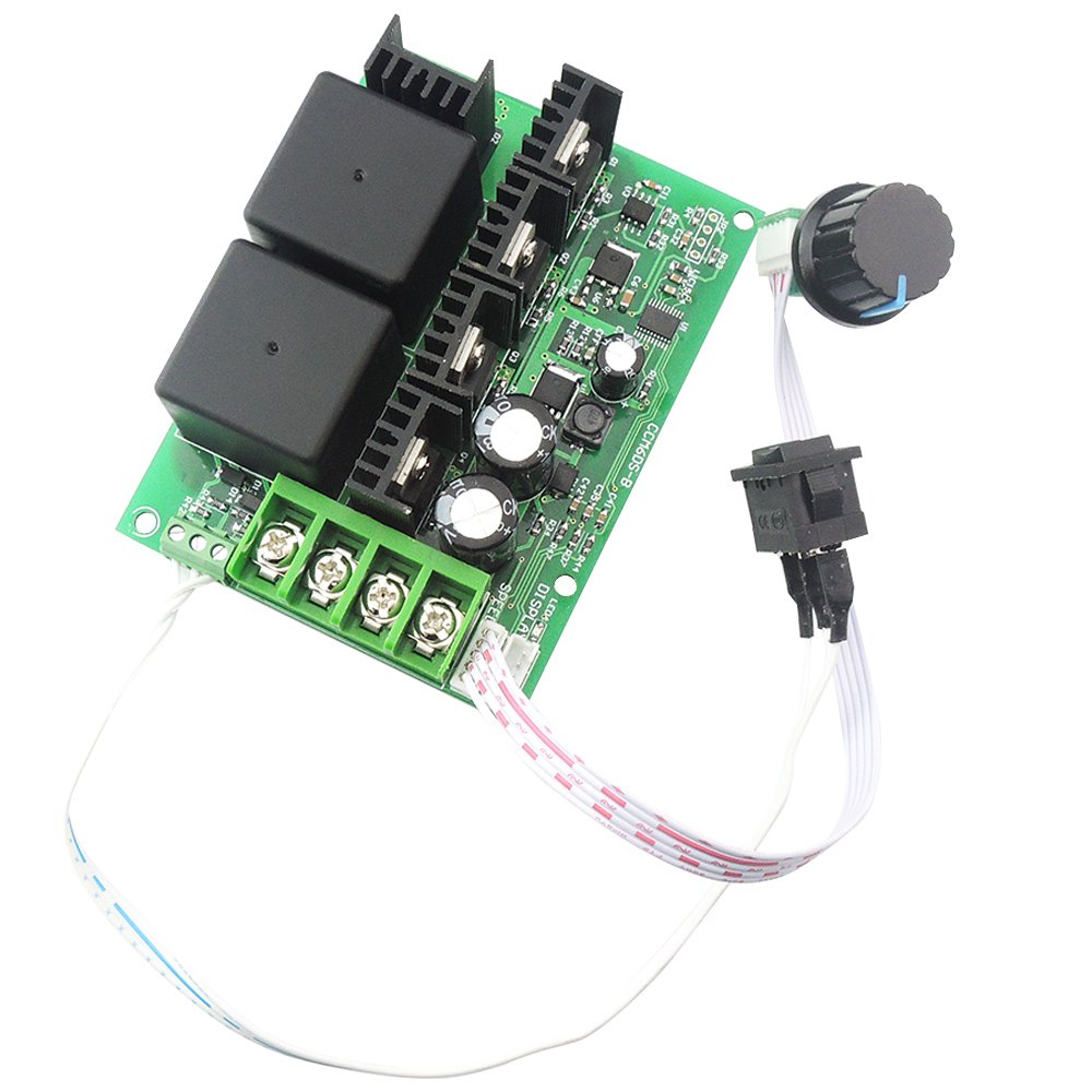 uniquegoods Upgraded 10-50V 12V 24V 36V 48V 40A PWM DC Motor Speed Controller CW CCW Reversible Adjustable Knob Switch Plus Control Driver by uniquegoods (Image #5)