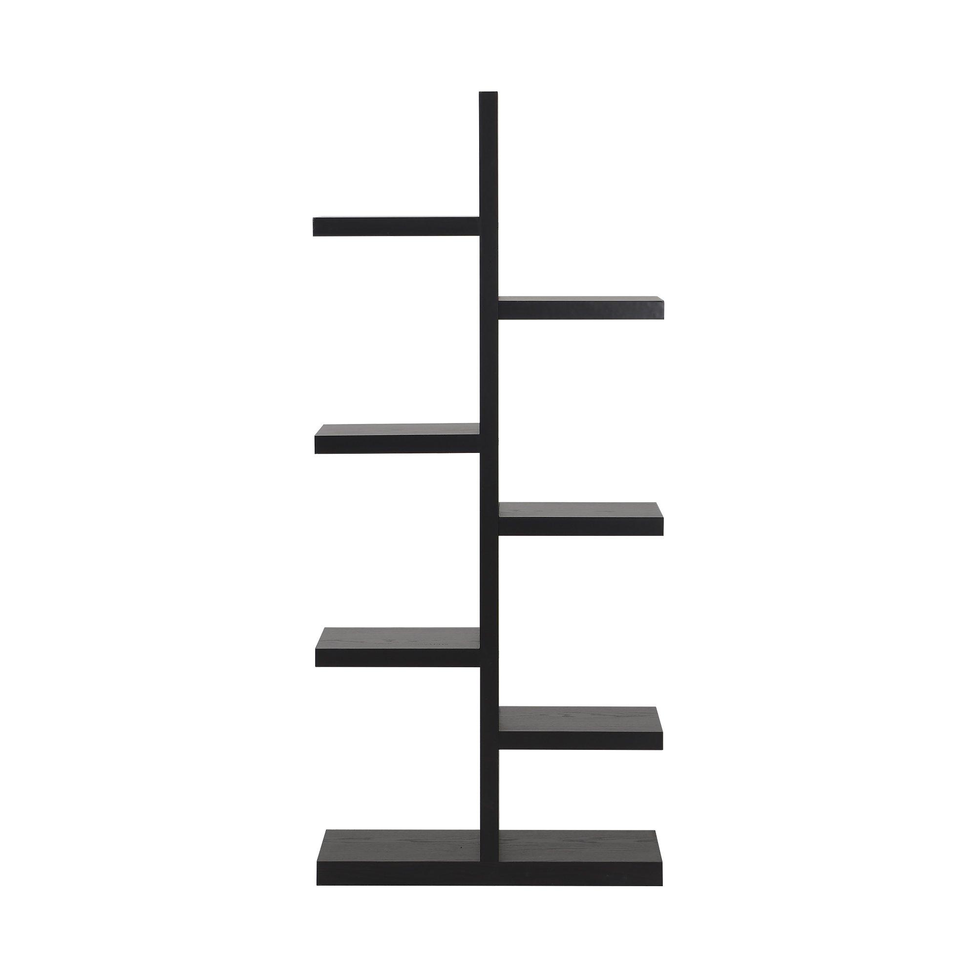 Homestar 7-Shelf Bookcase in Espresso