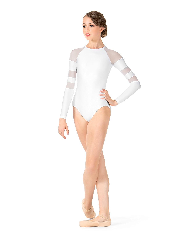 868e7421a9f Amazon.com  Adult Long Sleeve Mesh Leotard N8847  Clothing