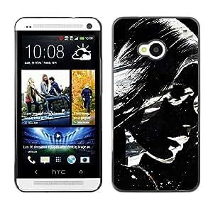 Be Good Phone Accessory // Dura Cáscara cubierta Protectora Caso Carcasa Funda de Protección para HTC One M7 // Awesome Black & White Girl