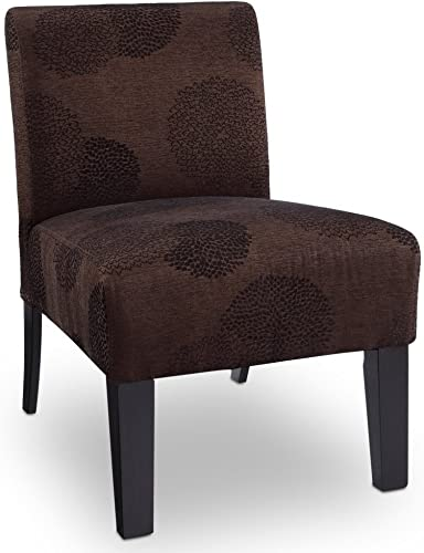 Deco Sunflower Fabric Slipper Chair Color Brown Sunflower