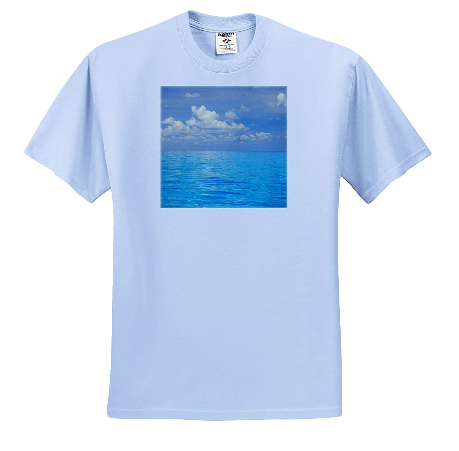 ts/_312980 - Adult T-Shirt XL Seascapes 3dRose Danita Delimont Close-up of Blue Tropical Water Bahamas