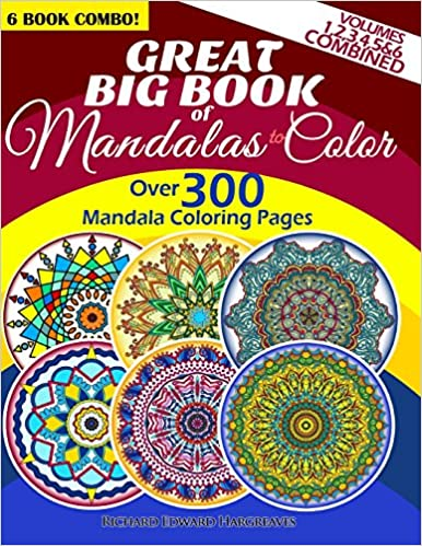 Amazoncom Great Big Book Of Mandalas To Color Over 300 Mandala