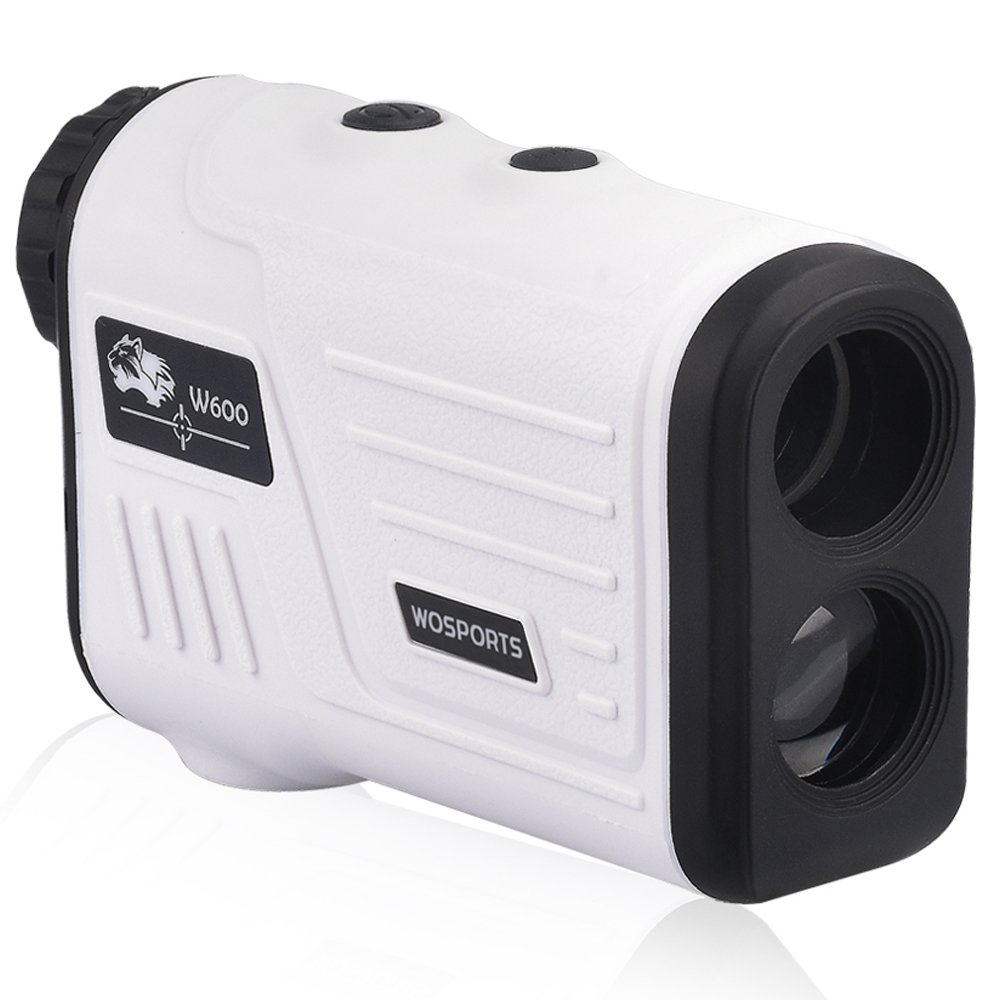 WOSPORTS Golf Rangefinder, Laser Range Finder with Slope, Golf Trajectory Mode, Flag-Lock and Distance/Speed/Angle Measurement - Golf Scope (White) by WOSPORTS