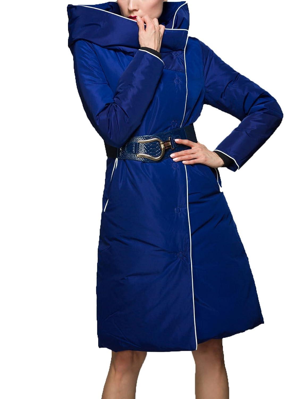 LQABW Down Jacket Mujer De Sección Larga Más Grueso Con Capucha Puffa Quilted Coat