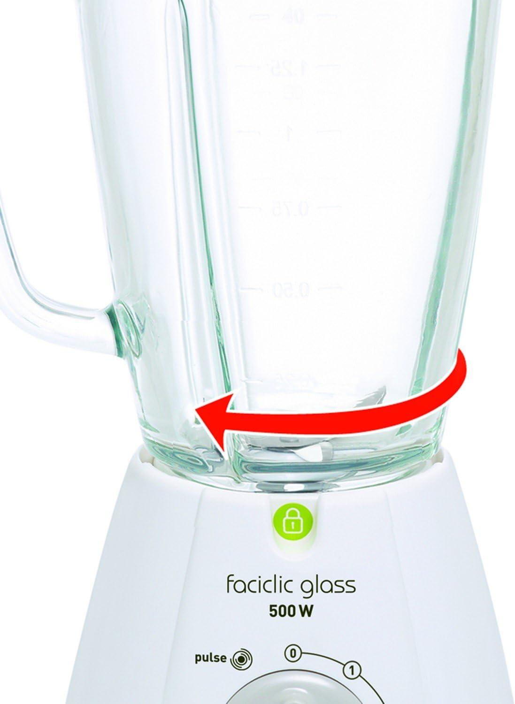 Moulinex Faciclic - Batidora de vaso, 400 W, jarra plástico de ...