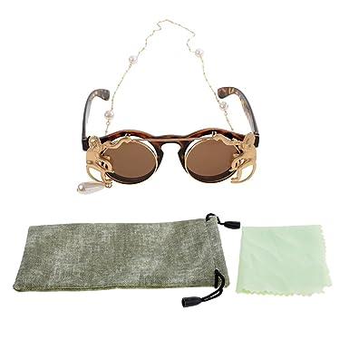 MagiDeal Gafas de Sol con Cadena Color Oro Accesorios de ...