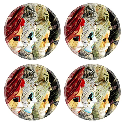 MSD Round Coasters IMAGE 29819529 Carnival or mardi gras costume masks in (Venice Carnival Costumes Price)