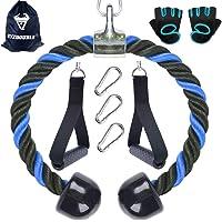 XYZDOUBLE Tricepsstouw touw nylon 70/90 cm biceps triceps touw fitness kabelgreep met antislip dubbele handgreep voor…