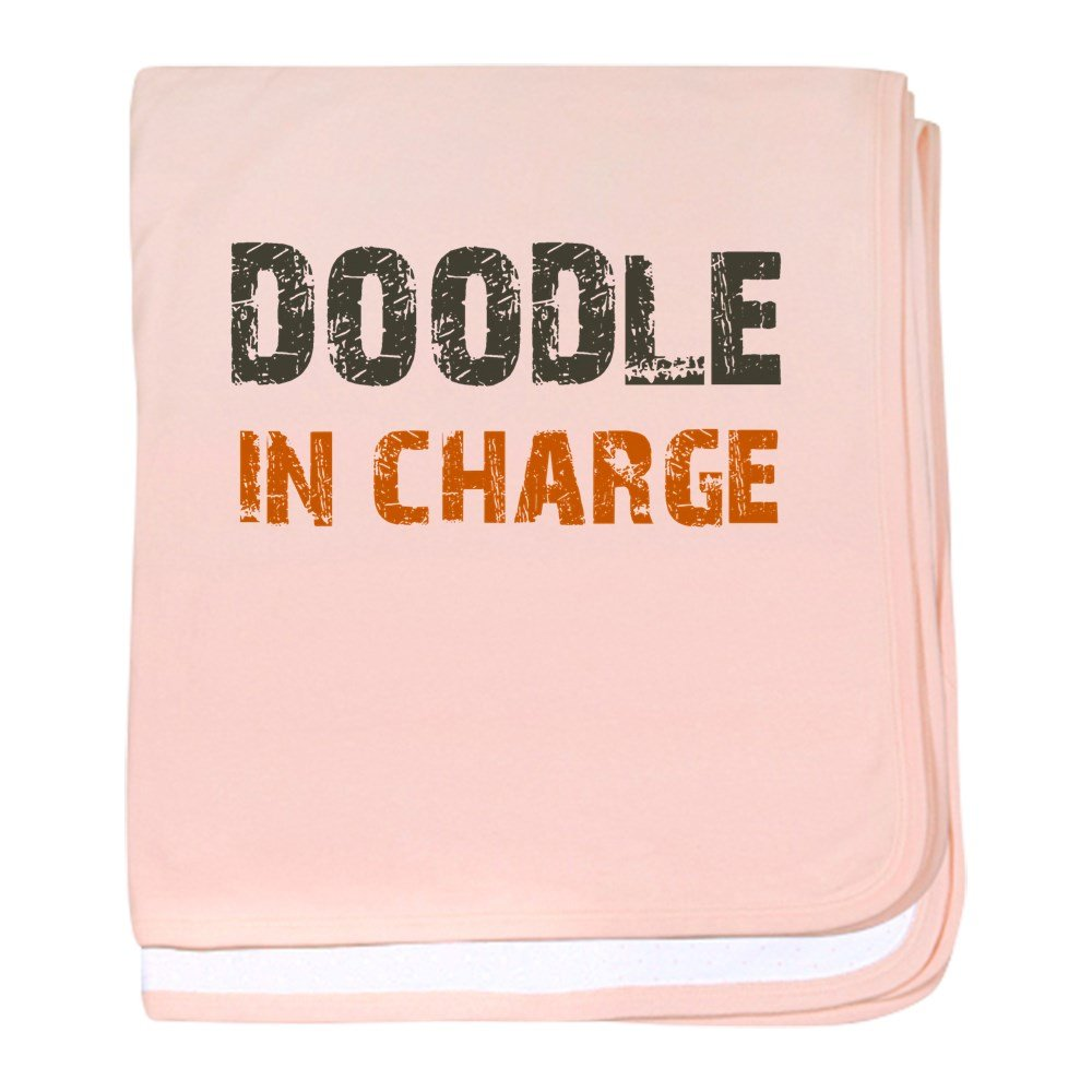 CafePress – Doodle In Charge – スーパーソフトベビー毛布、新生児おくるみ ピンク 06159744026832E  ペタルピンク B073W5XHKP