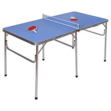 Goplus 60u0026quot; Portable Table Tennis Table Folding Ping Pong Table W/  Accessories Indoor Game