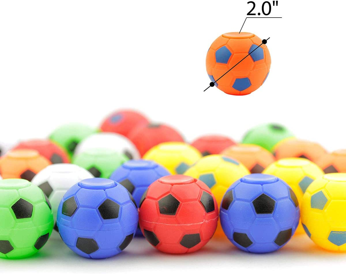 Fidget Spinner Toy Balls Stress Relief Balls for Adults,Kids,EDC,ADHD,Anxiety and Autism Color Random 6pcs