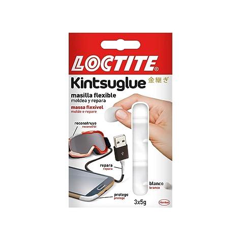 Loctite Kintsuglue, masilla flexible, repara, protege, mejora, blanco, 3 x 5gr