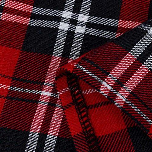 Kimodo In Scozzese Scuola Gonna A Plaid Ragazze Controlli Rosso Uniforme Pieghe 2018 Cotone Scozia ZHZwR7