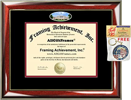 Sculpted Foil Seal Graduation Diploma Frame 16 x 16 Cherry Signature Announcements University-of-Wisconsin-Superior Undergraduate