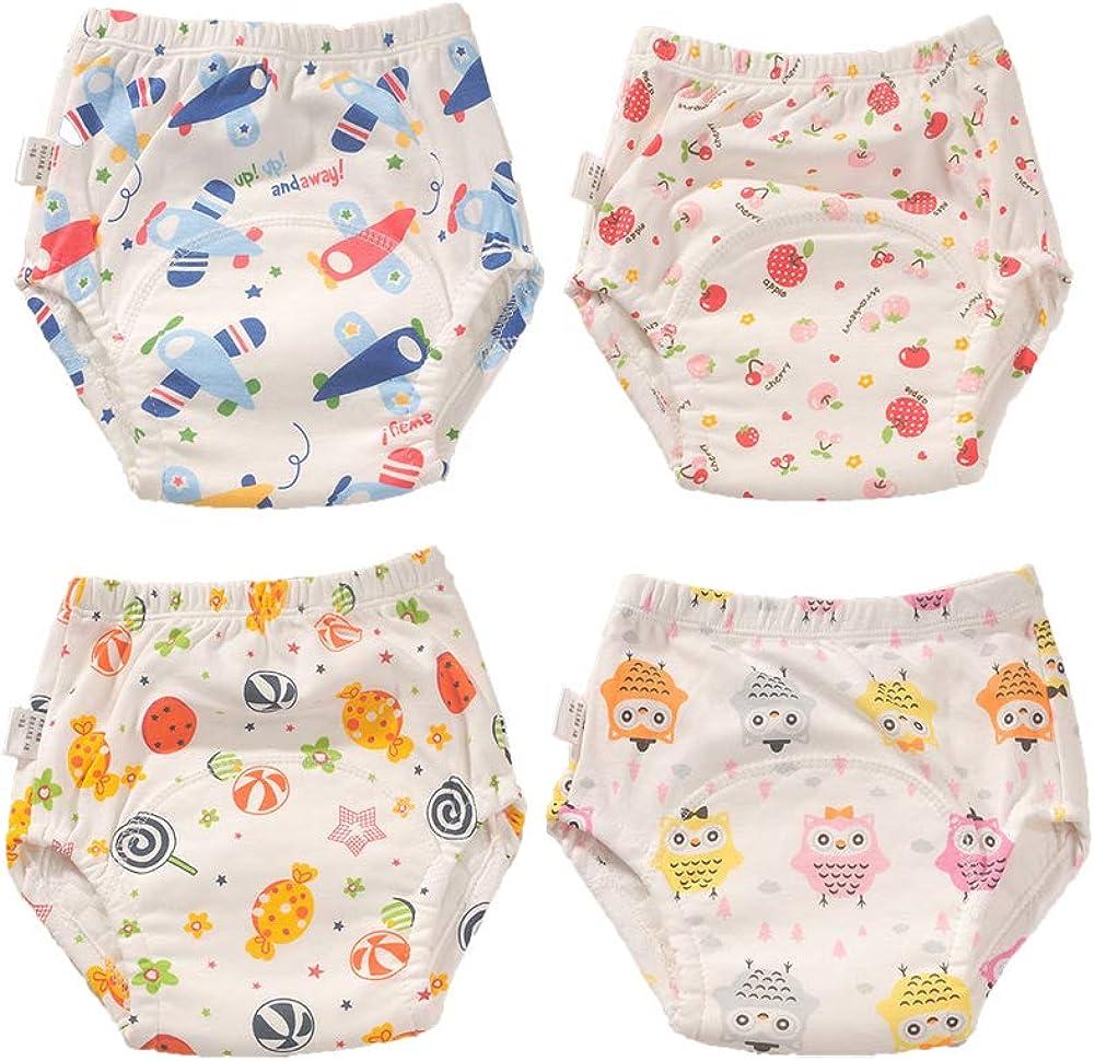 Morbuy 4er Pack Baby Lernwindel Trainerhosen Unterw/äsche Windeln Windelhose zum Toilettentraining T/öpfchentraining Kleinkind T/öpfchen Klingelhose Waschbare Lernwinde