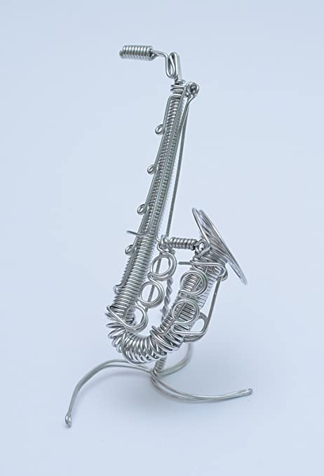 Metal Wire Gift Art Handmade Saxophone Musical Instrument Christmas ...