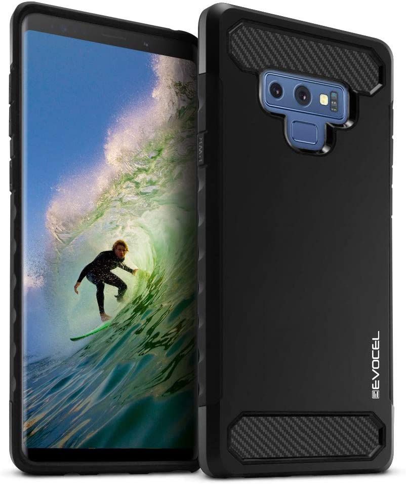 Evocel Galaxy Note 9 Case, [Dual Lite Series] Lightweight & Slim Profile Dual Layer Case with Raised Lip Protection for Samsung Galaxy Note 9, Black