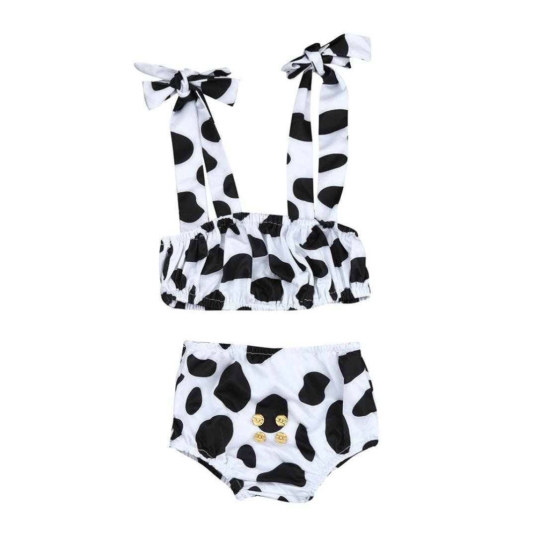 FORESTIME_baby clothes girl FORESTIME Toddler Baby Girls Spot Cow Pattern Swimsuit Swimwear Backless Braces Outfit