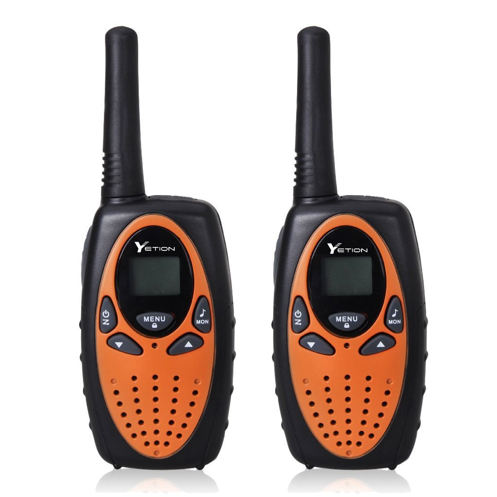 YETION Walkie Talkies 2 Pack Long Range Distance Max 5KM Two Radio 22 Channel UHF Built-in Microphone Walkies Talky For Kids(Orange) by YETION (Image #1)