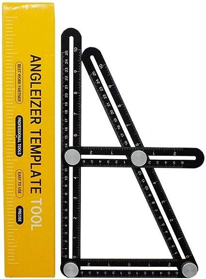 Tagliare Pietre e Altro V7035-2 Posare Pavimenti ValueHall Multi-Angolo Di Alluminio Angleizer Template Tool Righello Angolare di Misurazion Righello Angolare per Applicare Piastrelle