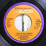 Van McCoy & The Soul City Symphony 45 RPM Love Is The Answer / Killing Me Softly