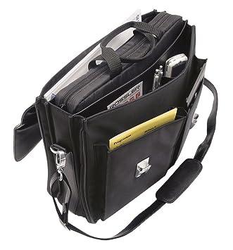 Wedo 0585301 - Cartera para documentos con bandolera (incluye funda para ordenador portátil) negro: Amazon.es: Oficina y papelería