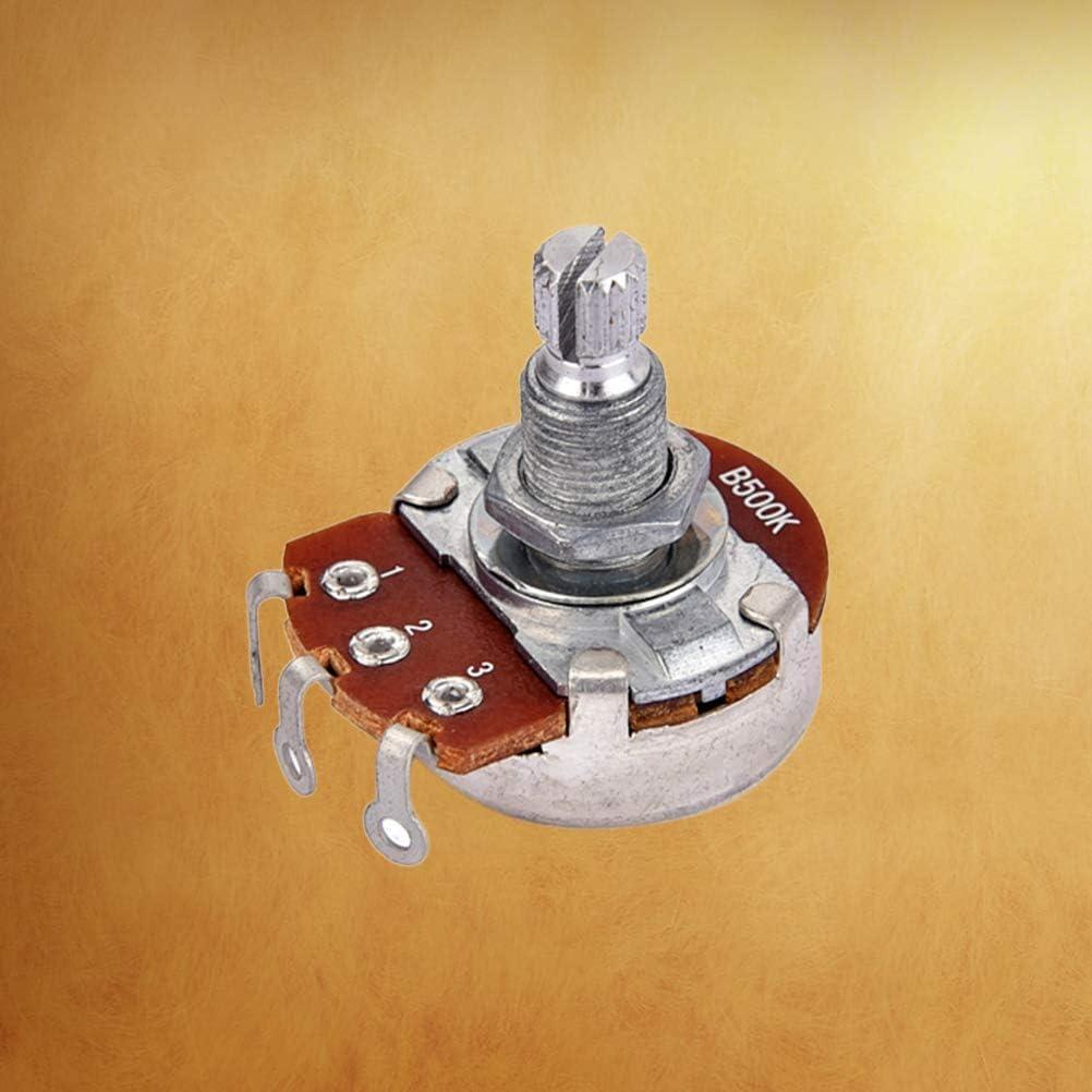 Healifty B500k Potentiometer Long Knurled Split Shaft Electric Bass Guitar Volume and Tone Pots Audio Taper Switch Potentiometer