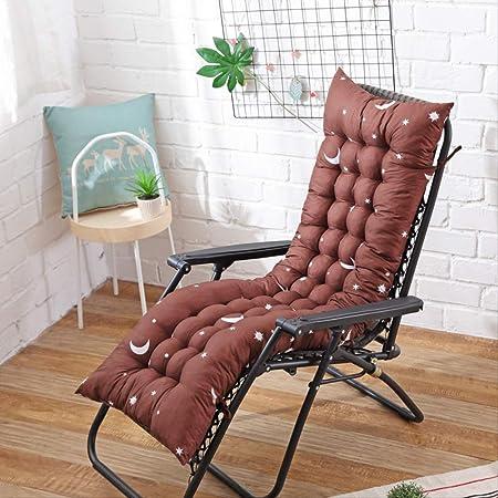 AINIYUE Cojín para Tumbona, cojín reclinable para Muebles de jardín para Patio Cojín de Repuesto con Correas elásticas, para/Interior/Exterior Los 48X125cm marrón: Amazon.es: Hogar