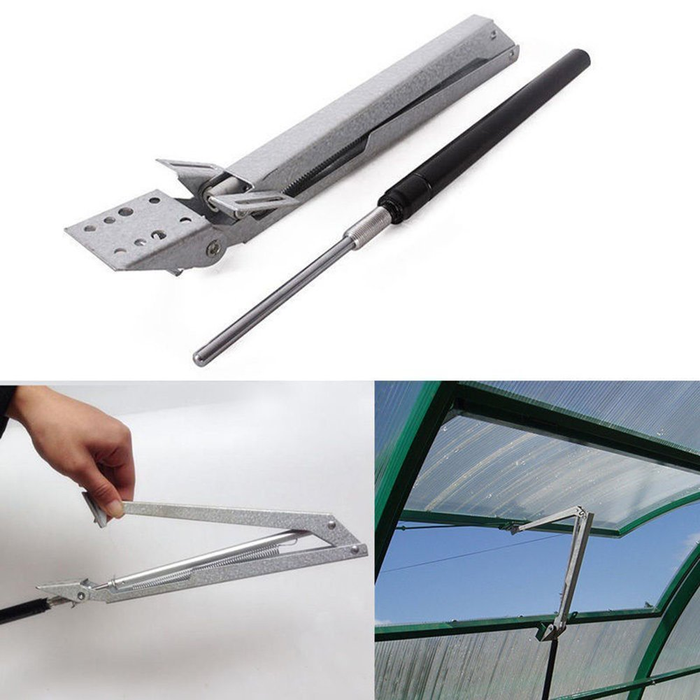 Youzpin 1Pcs Agricultural Greenhouse Carbon Steel Heat Sensitive Automatic Window Openers,Greenhouse Vent Opener Spring Auto Vent Kit