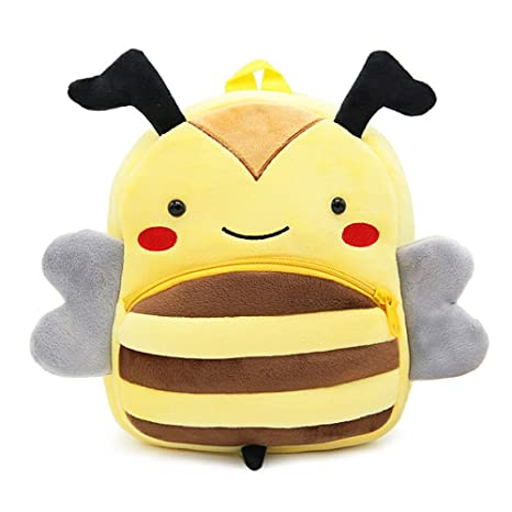 Gosear Dibujos Animados Bee Cat Kids niño pequeño Suave Felpa Mochila Escuela Mochila Bolsa para niño