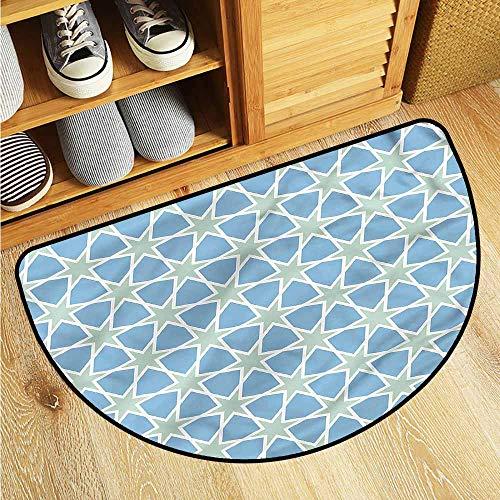 Dabuniu Print Bath Mat Moroccan Mosaic Roman Stars Customize Door mats for Home Mat 24