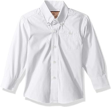 Wrangler Camisa clásica de manga larga con un bolsillo para niño: Amazon.es: Ropa y accesorios