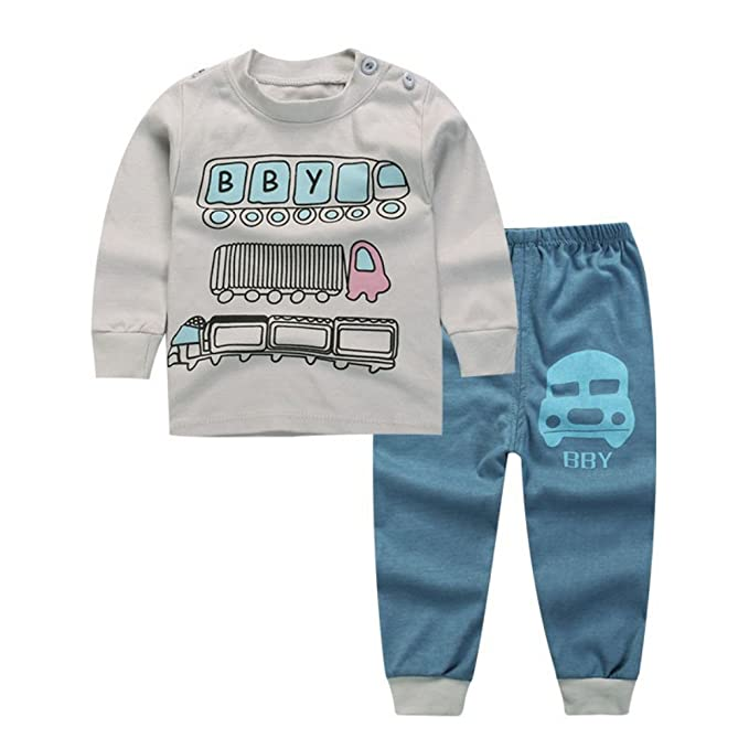Miyanuby - Pijamas Enteros - Redondo - Manga Larga - para bebé Niña Gris Bus 0