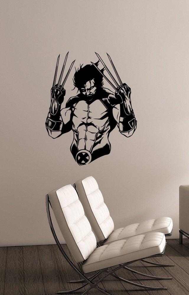 ウルヴァリンの壁デカールビニールステッカーマーベルコミックスーパーヒーローアートデコレーション、ホーム子供用男の子部屋寝室装飾wlv1   B01LYPZ6H2